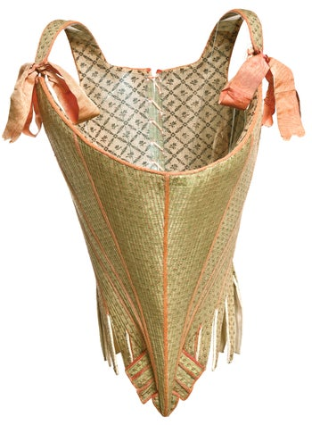 A women's undergarment from around 1770, France.