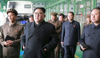 North Korean leader Kim Jong Un visits a factory in this undated picture provided by KCNA in Pyongyang on November 4, 2017