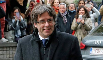 File photo: Dismissed Catalonia's leader Carles Puigdemont in Brussels on 31, 2017