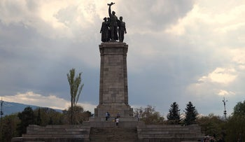 The Monument to the Soviet Army in Sofia, which was vandalized with anti-Semitic graffiti on October 31, 2017, triggering a war of words between Moscow and Bulgaria.