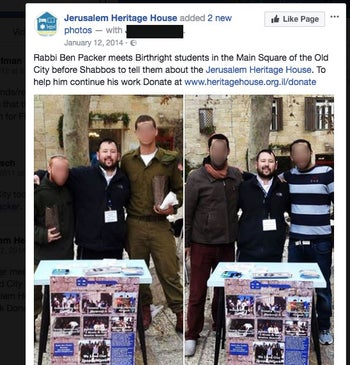 A screenshot from The Jerusalem Heritage House Facebook page
