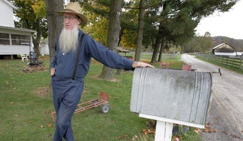 An Amish man in Bergholz, Ohio, 2011.