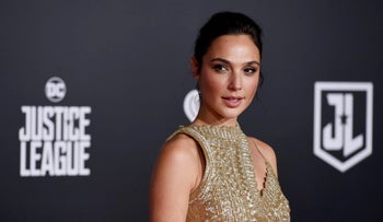 Gׂal Gadot arrives for the world premiere of Warner Bros.' 'Justice League,' Hollywood, California, November 13, 2017.