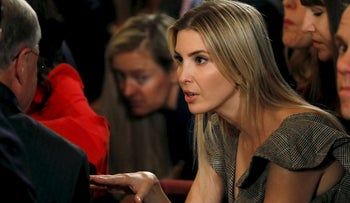 Ivanka Trump attends an event about administration's plans to combat the nation's opioid crisis in the East Room of the White House in Washington, U.S., October 26, 2017