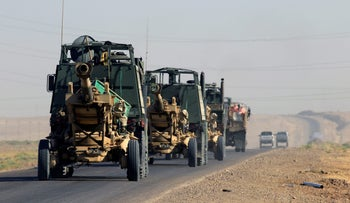 File photo: Artillery belonging to Iraqi army on the move, Iraq, October 17, 2017.