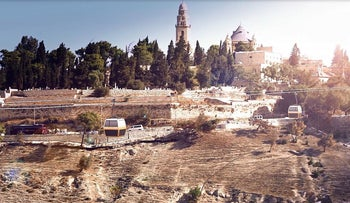 A simulation of the Jerusalem cable car