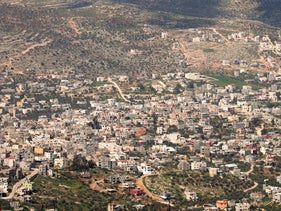 A general view of Nablus, West Bank, June 9, 2015.