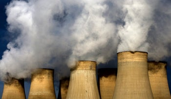 In this Dec. 13, 2009 file photo, a view of Ratcliffe-on-Soar power station, in Nottingham, England. Britain expects Friday, April 21, 2017 to be the first full day since the Industrial Revolution when it hasnג€™t used coal to generate electricity.