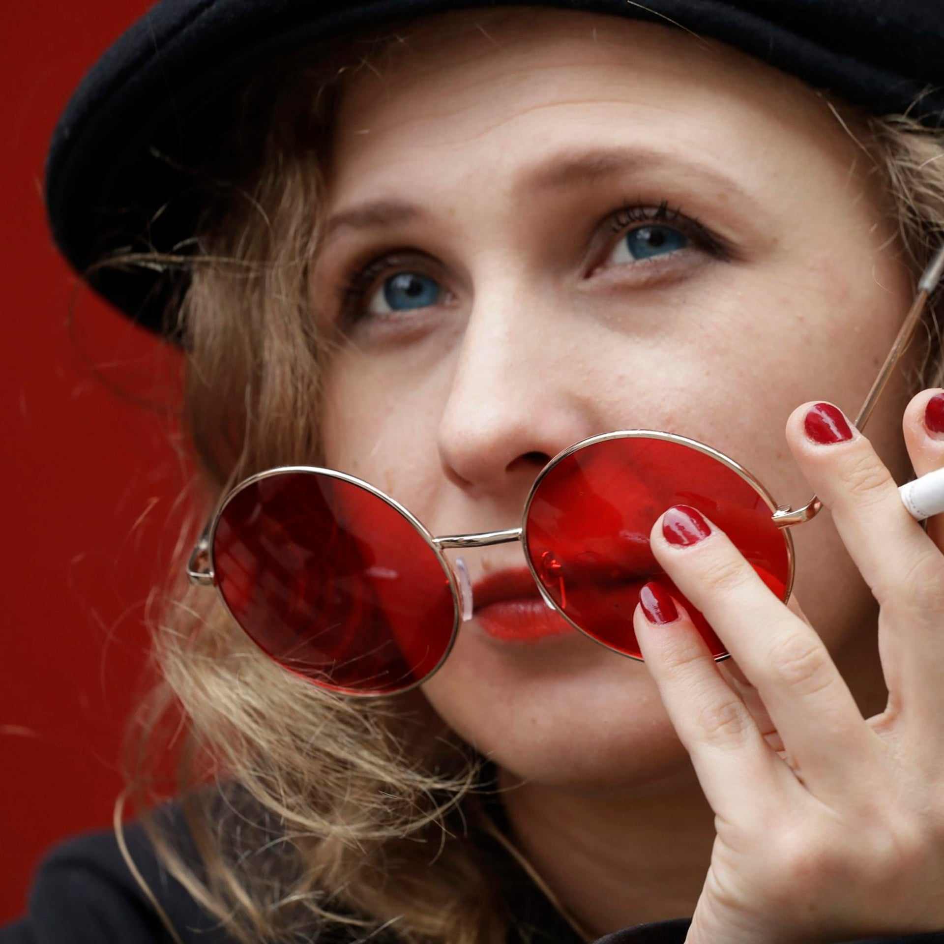 Maria Alekhina poses for portrait at La Mama Theater where she recreates her prison experience, in New York in October 2017.