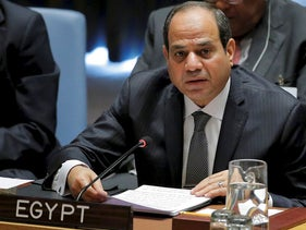 Egyptian President Abdel Fattah Al Sisi speaks at a meeting of the Security Council to discuss peacekeeping operations at U.N. headquarters in New York, U.S., September 20, 2017