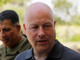 Jason Greenblatt, U.S. President Donald Trump's Middle East envoy, visits Kibbutz Nahal Oz, just outside the Gaza Strip, in southern Israel. August 30, 2017