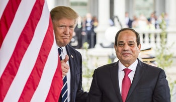 U.S. President Donald Trump, left, and Abdel-Fattah El-Sisi, Egypt's president, at the White House on Monday, April 3, 2017