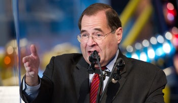 U.S. Rep. Jerrold Nadler (D-NY) speaking at the Intrepid Sea, Air and Space Museum in New York City on Dec. 11, 2011.