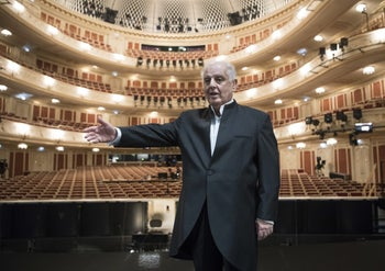 Daniel Barenboim at the State Opera House in Berlin, September 2017.