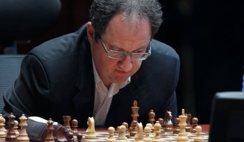 Israel's Boris Gelfand competes in the FIDE tournament in Moscow, Russia May 30, 2012