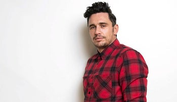 """In this Nov. 15, 2017 photo, James Franco poses for a portrait in New York to promote his film, """"The Disaster Artist."""""""