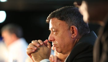 Avi Gabbay, leader of Israel's Labor Party, at an event