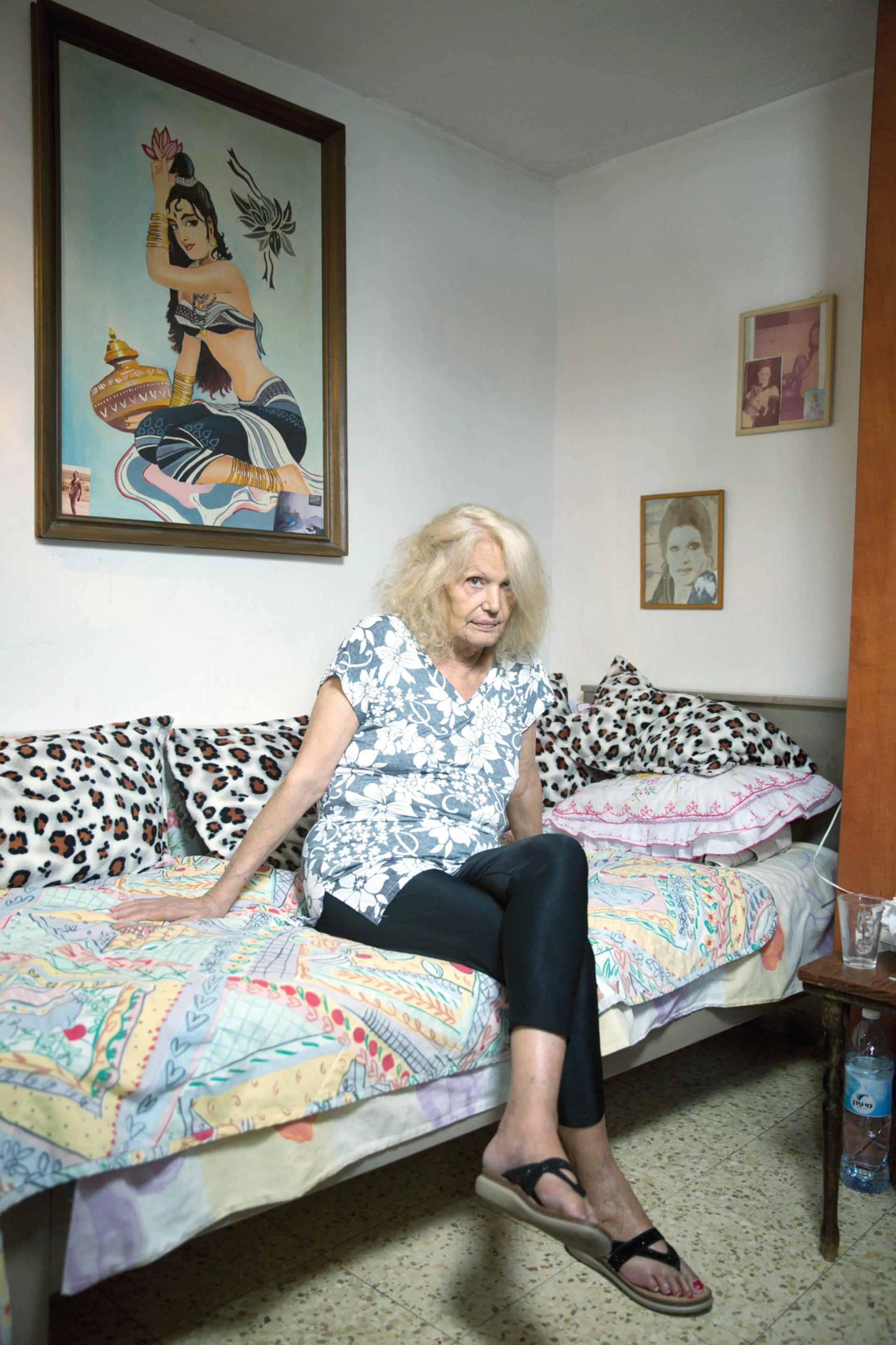 Nadia Avraham at home at Tel Aviv's Hatikvah neighborhood.