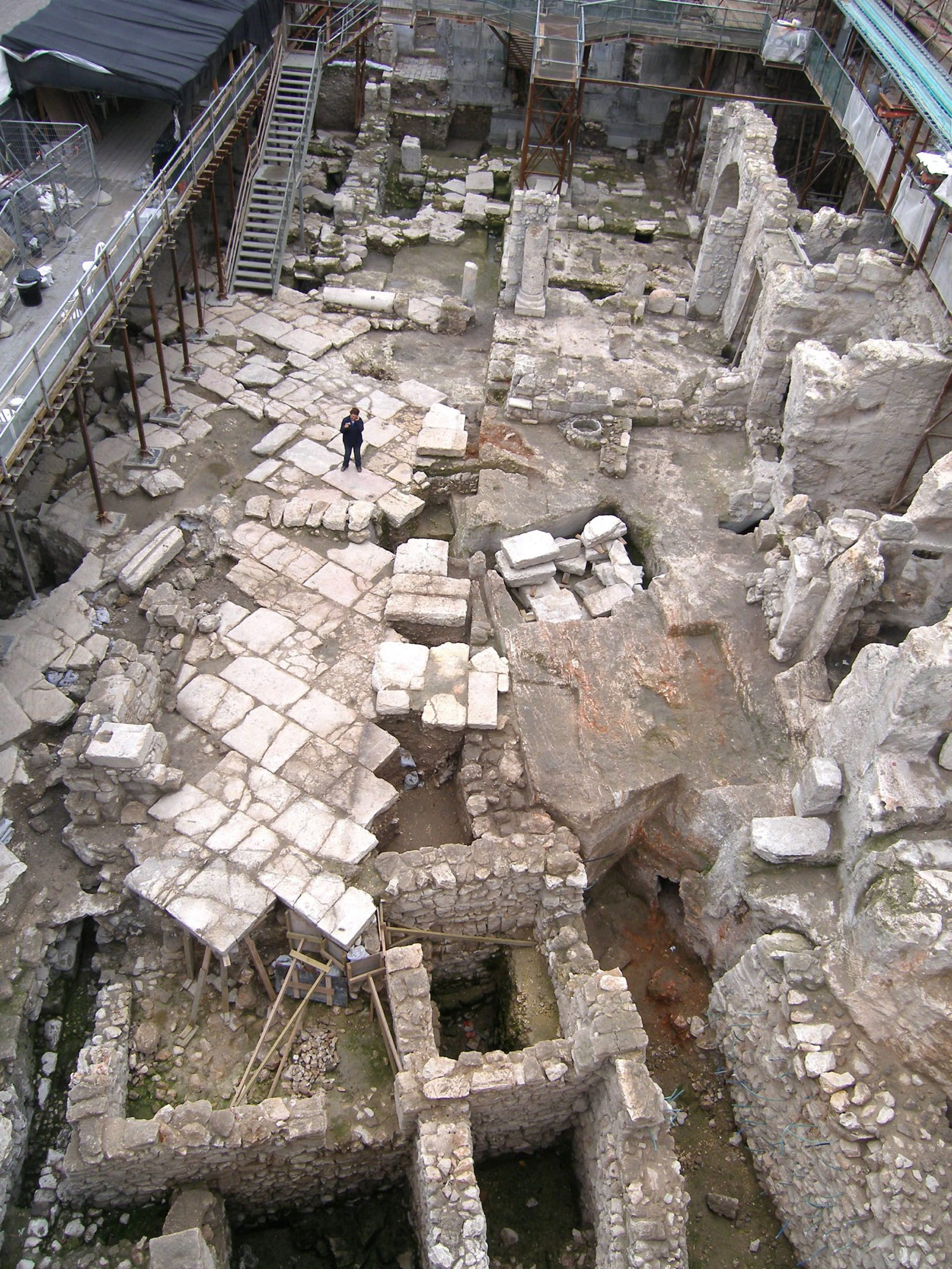 The excavation in the Western Wall plaza uncovered First Temple era buildings