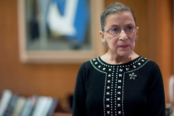 "U.S. Supreme Court Justice Ruth Bader Ginsburg. Will preside over a mock trial with international lawyers representing ""Merchant of Venice"" characters"