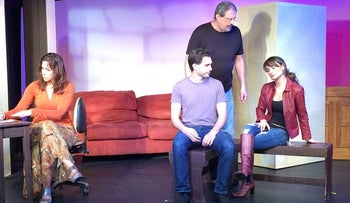 A scene from the Miami Jewish Community Center's Cultural Arts Theater production of 'Crossing Jerusalem.'