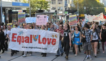 Equal Love rally in Melbourne, Australia, 2004.