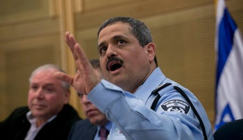 Israel Police Comissioner Roni Alsheikh, in the Knesset, February 9, 2016.