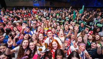 Participants in the BBYO International Convention in Baltimore, February 18, 2016.