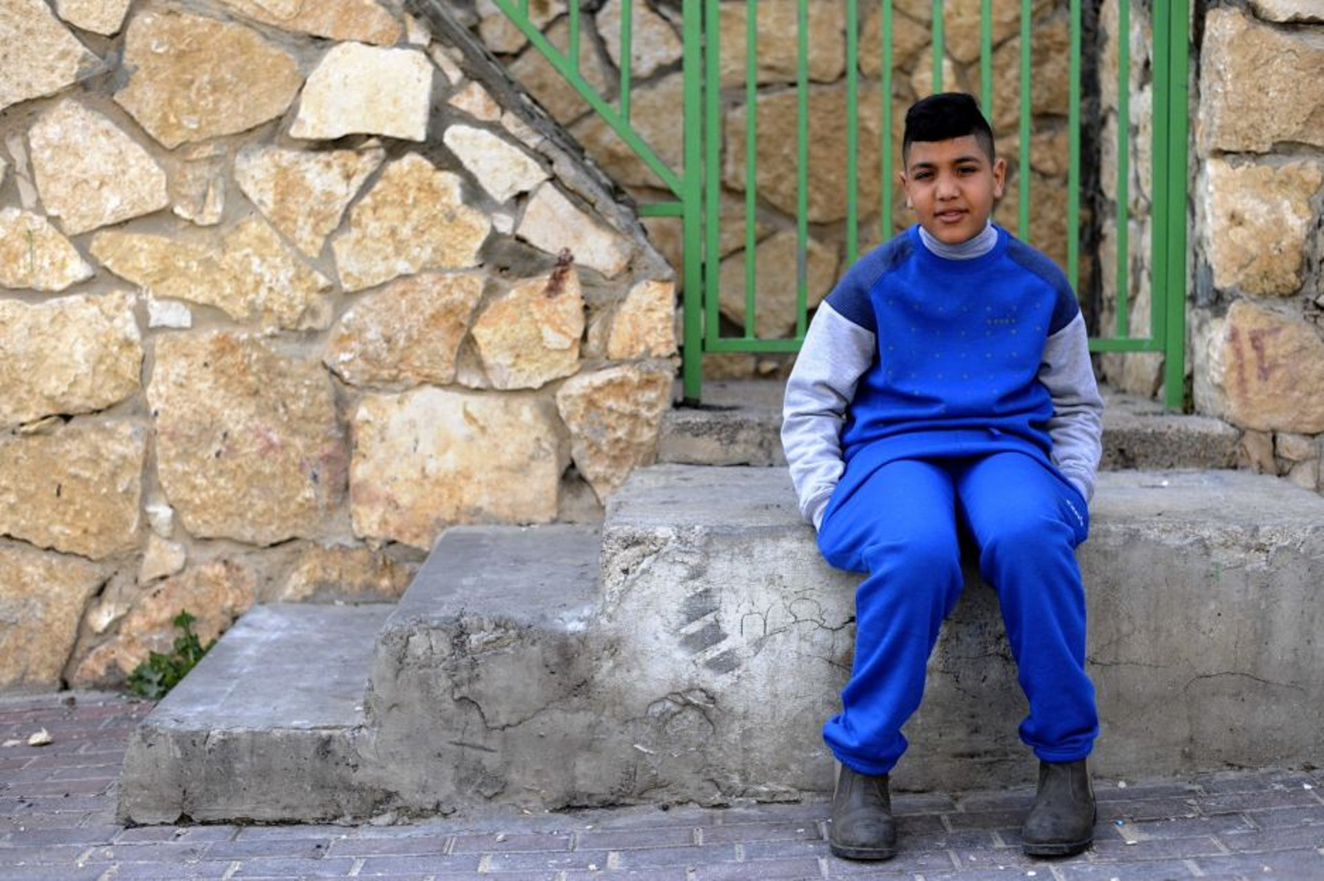 Anwar Amash, 11, of Jisr al-Zarqa.