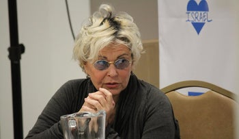 American comedian and actress Roseanne Barr participates in a StandWithUs event in California on February 27, 2016.