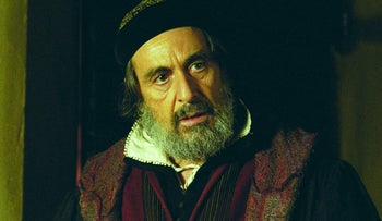 "Al Pacino stars as Shylock in the film version of ""The Merchant of Venice."""