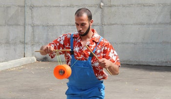 Mohammed Abu Saha, a circus performer and teacher, has been under administrative detention since December 14, 2015., has been under administrative detention since December 14, 2015.