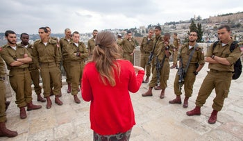 Israeli soldiers touring Ir David, or the City of David, in East Jerusalem in 2014.