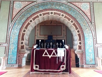 The old Ashkenazi synagogue in Sarajevo, Bosnia-Herzegovina, the only functioning synagogue in the entire country, July 2017.