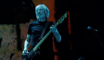 Roger Waters performs at the Staples Center in Los Angeles, California, June 20, 2017.
