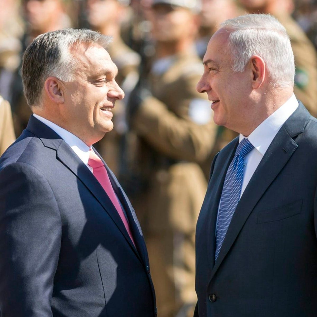 Prime Minister Benjamin Netanyahu, right, with Hungarian counterpart Viktor Orbán in Budapest, Hungary, July 18, 2017.