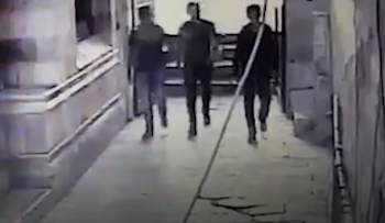 The attackers in Friday's shooting at the Temple Mount as seen on released footage.