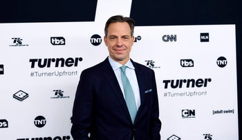 CNN News anchor Jake Tapper attends the Turner Network 2017 Upfront presentation at The Theater at Madison Square Garden on Wednesday, May 17, 2017, in New York.