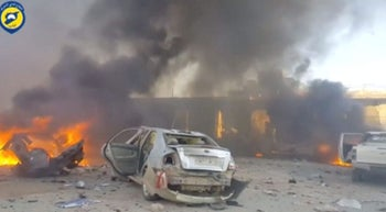 The aftermath of fighting in Syria's Idlib province, July 2017.