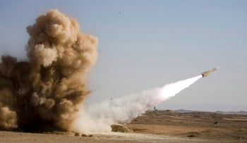 File photo: Iran launching a missile.