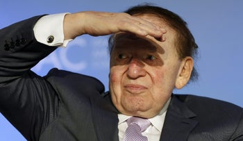 Sheldon Adelson at the National Israeli-American Conference in Washington, October 2015.