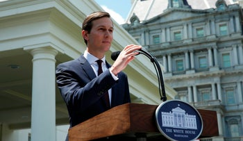 Jared Kushner, senior adviser to and son-in-law of President Donald Trump, makes a statement from the White House after being interviewed by the Senate Intelligence Committee in Washington, July 24, 2017.