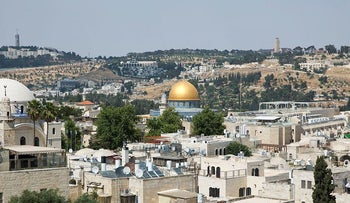 This Wednesday, May 24, 2017 photo shows a view of Jerusalem's Old City