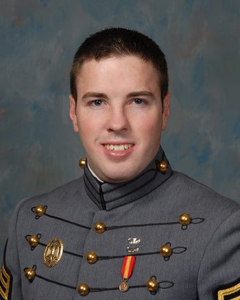 A 2009 photo provided by the United States Military Academy shows Taylor Force.