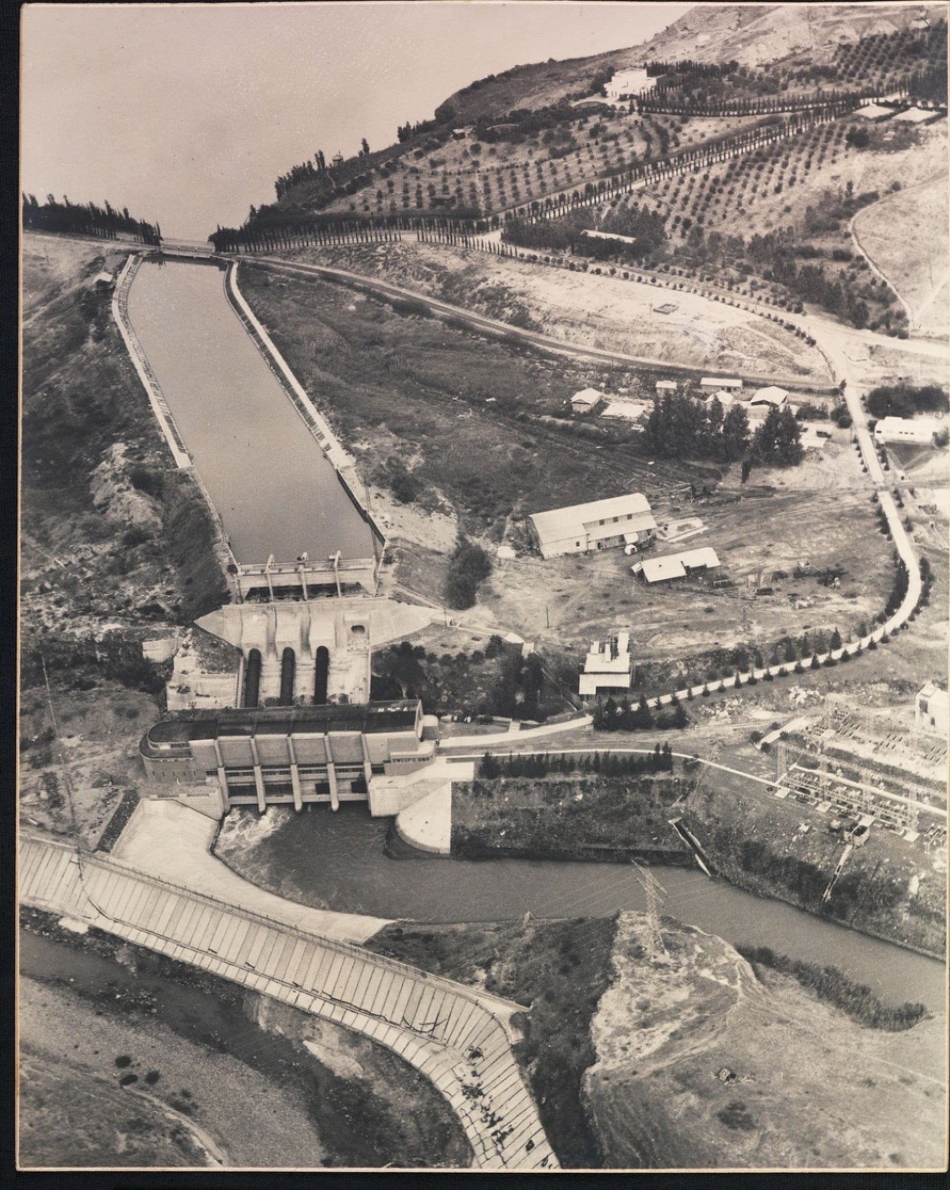 Aerial photo of the power station at Naharayim