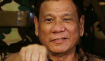 File Photo: Philippine President Rodrigo Duterte. Aug. 25, 2016.