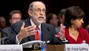 Frank Gaffney at Capitol Hill, July 24, 2013.