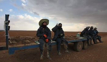 Thai agricultural workers near Gaza, December 2016.