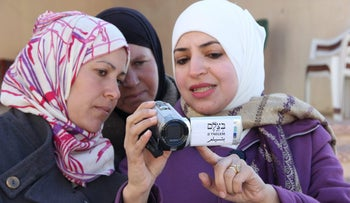 Volunteers in B'Tselem's camera project in the West Bank.