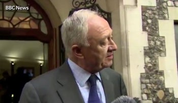 A screenshot of London mayor Ken Livingstone.